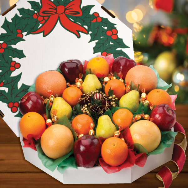 Festive Fruit Wreath