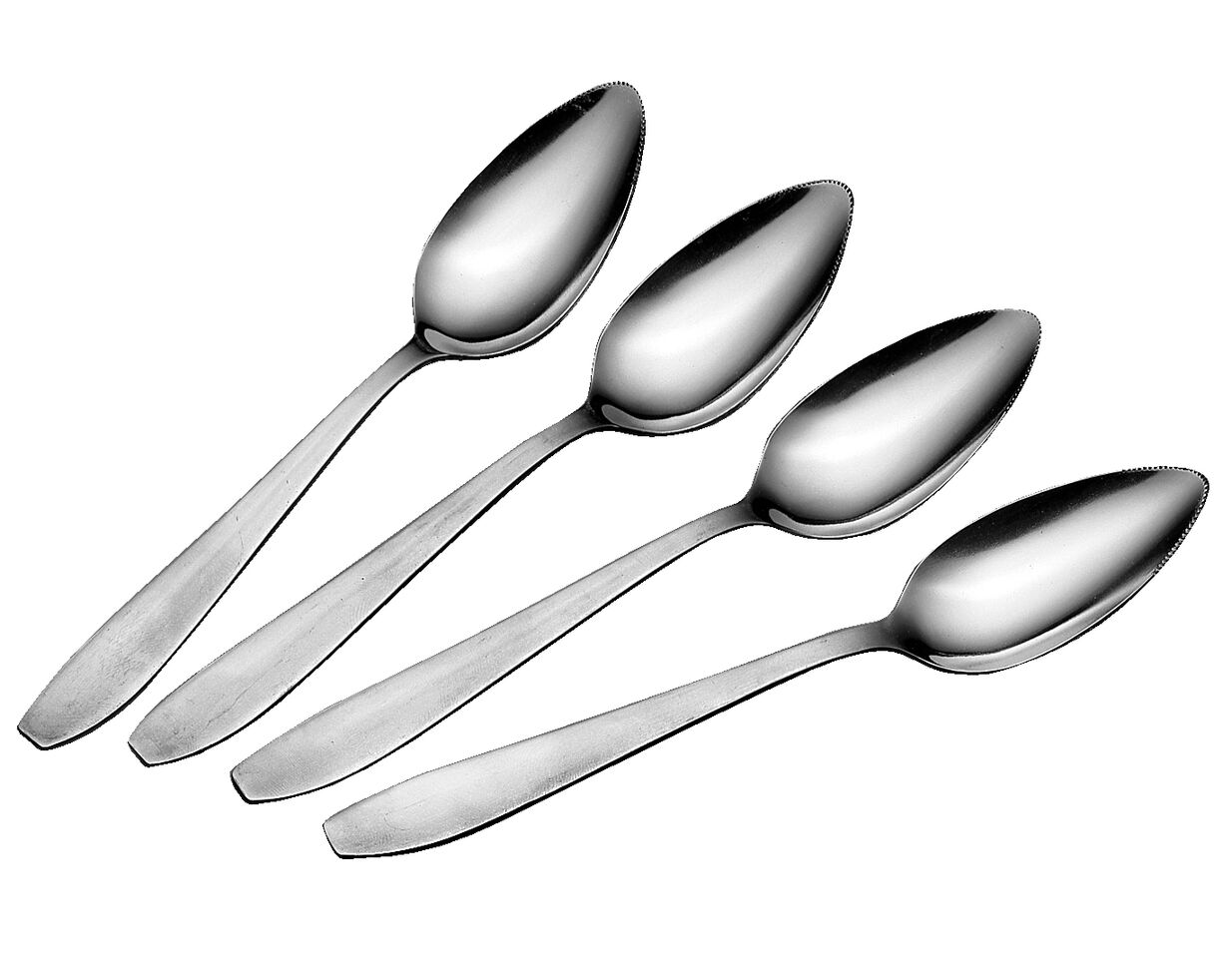 Four  Stainless Steel Fruit Spoons